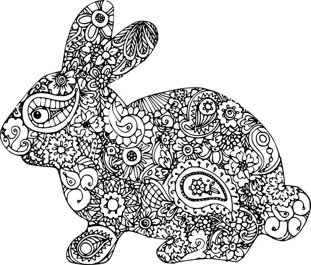 dibujos para colorear dificiles 19 conejo