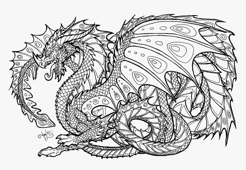 dibujos para colorear dificiles 3 dragon