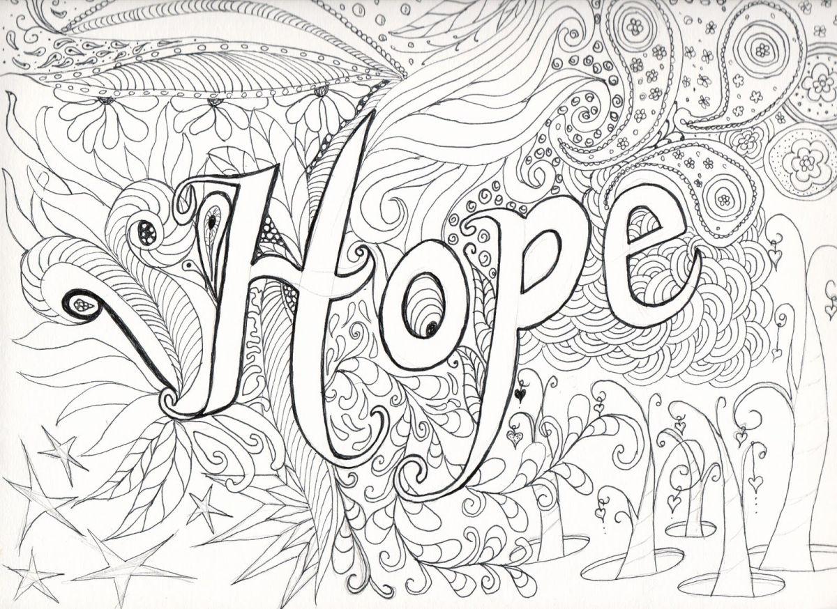 dibujos para colorear dificiles 6 hope