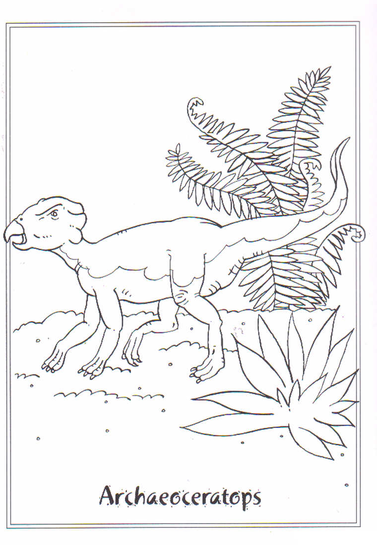 dinosaurios para colorear 10 archaeoceratops