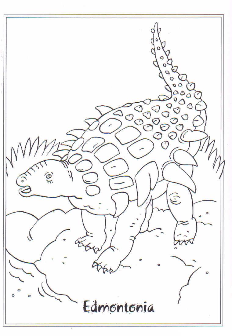 dinosaurios para colorear 12 edmontonia