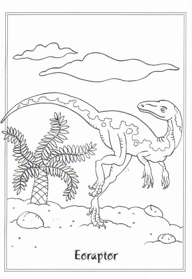 dinosaurios para colorear 13 euraptil