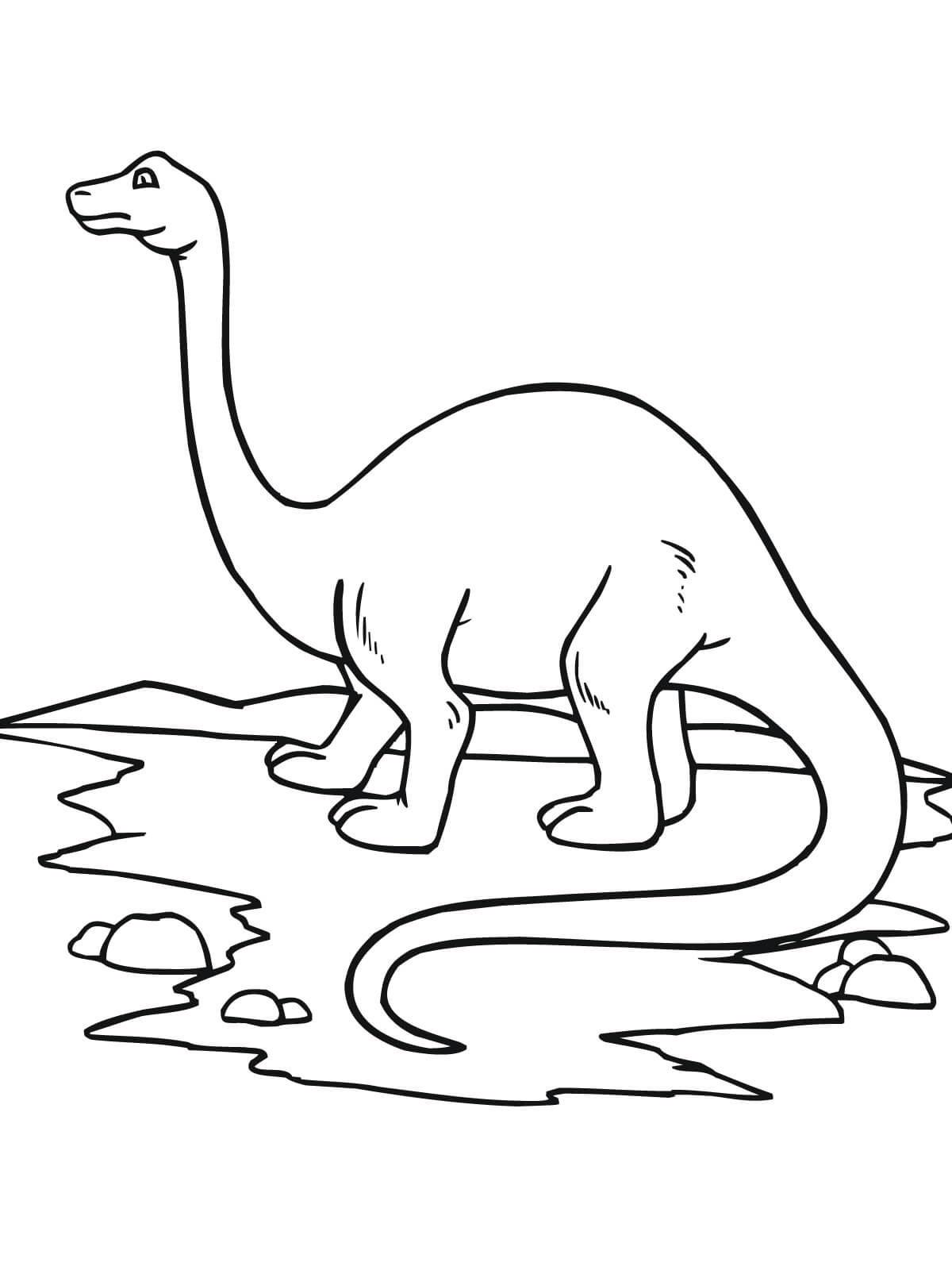 dinosaurios para colorear 3 brontosaurio