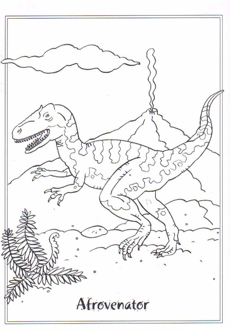 dinosaurios para colorear 7 afrovenator