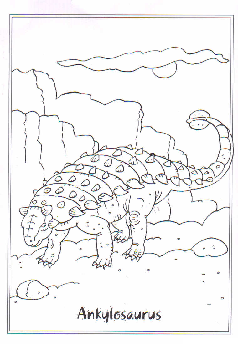dinosaurios para colorear 8 ankylosaurus