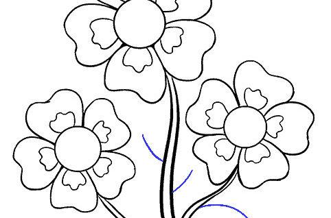 flores para colorear 22