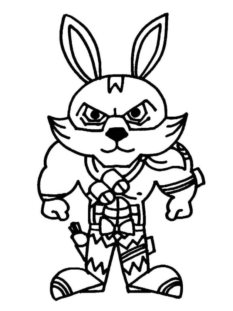 free fire para colorear bunny warrior