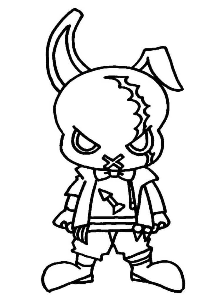 free fire para colorear phantom bunny