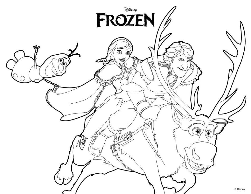frozen para colorear 6 elsa anna kristoff y sven