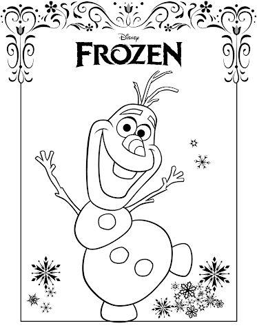frozen para colorear olaf 1