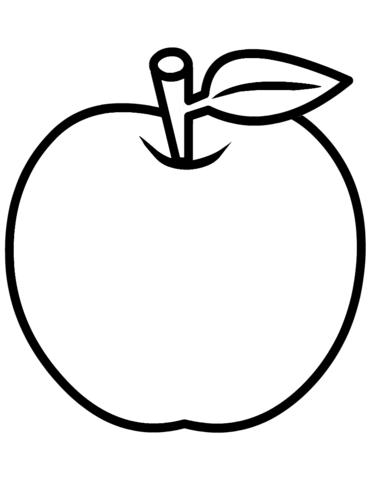 frutas para colorear 1 manzana