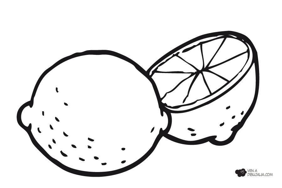 frutas para colorear 10 limon