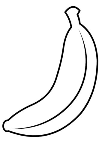 frutas para colorear 4 platano