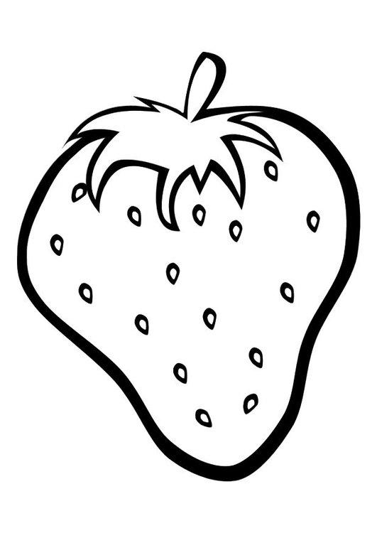 frutas para colorear 7 fresa