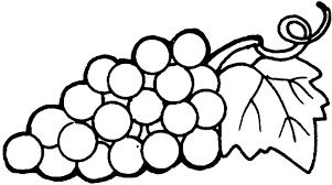 frutas para colorear 8 uvas