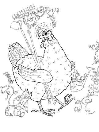 gallinas para colorear 6