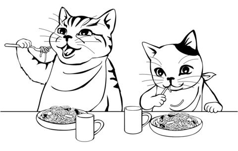 gatos para colorear 36