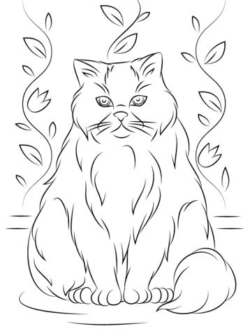 gatos para colorear 6
