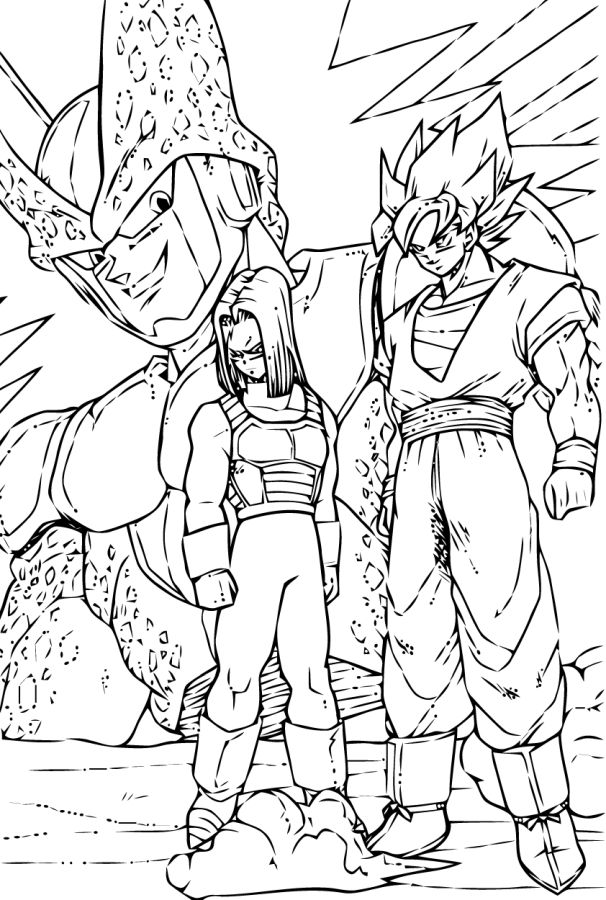goku para colorear 30 goku trunks y cell