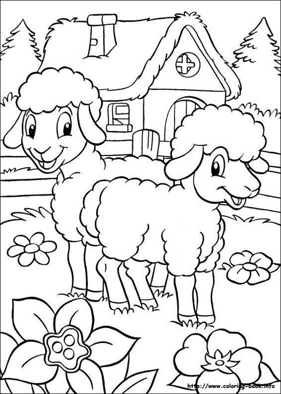 granja para colorear 9