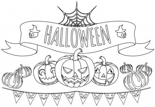 halloween para colorear 10 calabazas