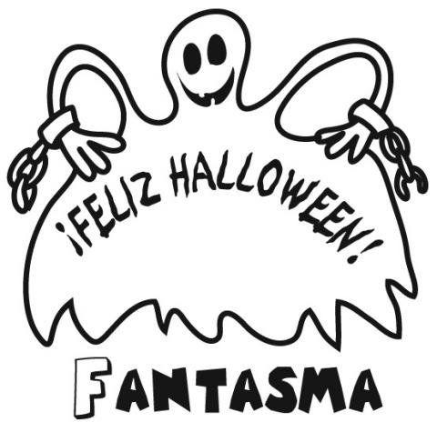 halloween para colorear 11 feliz halloween fantasma