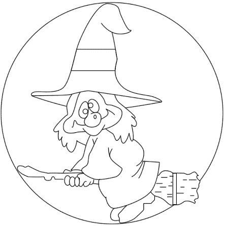 halloween para colorear 2 bruja loca