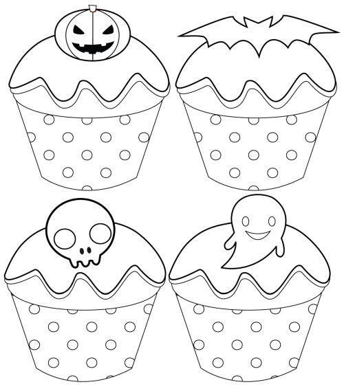 halloween para colorear 20 pastelitos