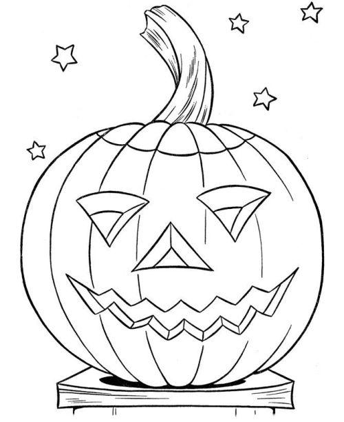 halloween para colorear 22 calabaza