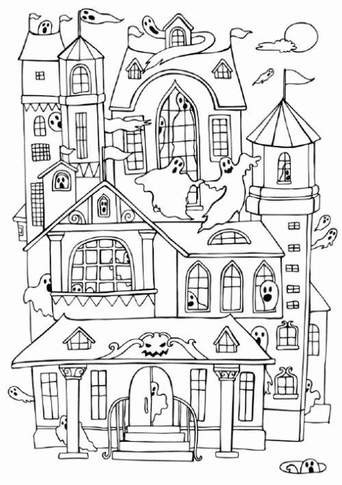 halloween para colorear 23 casa encantada y fantasmas