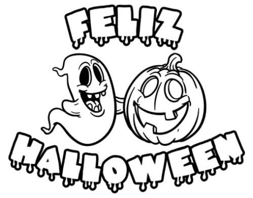 halloween para colorear 26 feliz halloween fantasma y calabaza