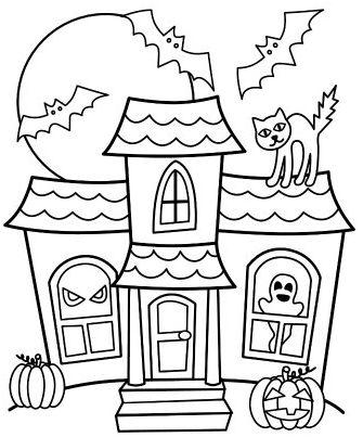 halloween para colorear 28 casa encantada