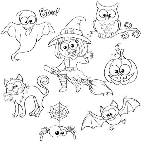 halloween para colorear 30 nina y cosas de halloween