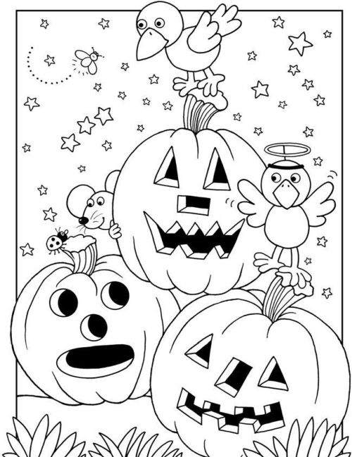 halloween para colorear 32 calabazas