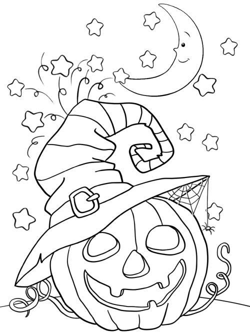 halloween para colorear 33 calabaza flipando