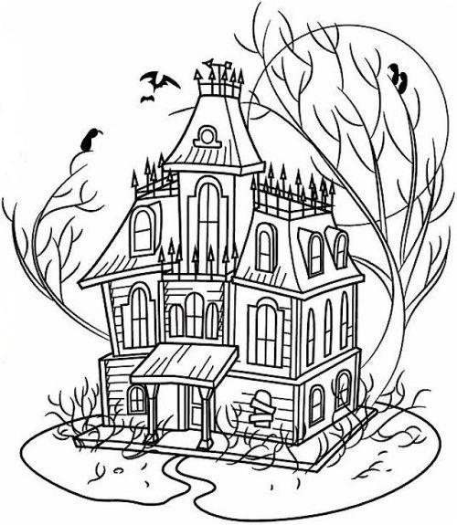 halloween para colorear 38 casa encantada