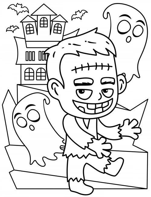 halloween para colorear 41 frankenstein