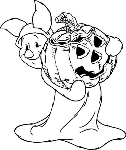 halloween para colorear 45 conejo con calabaza