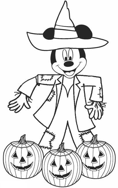 halloween para colorear 46 mickey mouse con calabazas