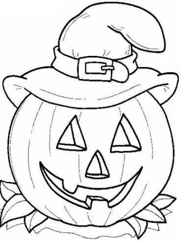 halloween para colorear 47 calabaza con gorro