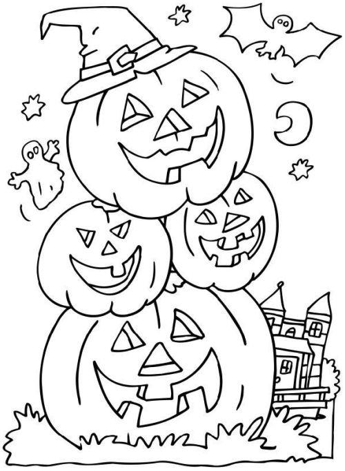 halloween para colorear 53 calabazas sonrientes