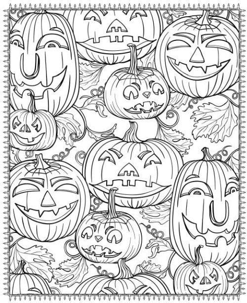 halloween para colorear 8 calabazas