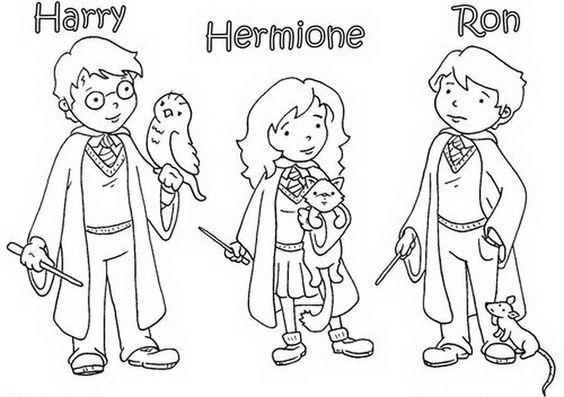 harry potter 1 con hermione y ron