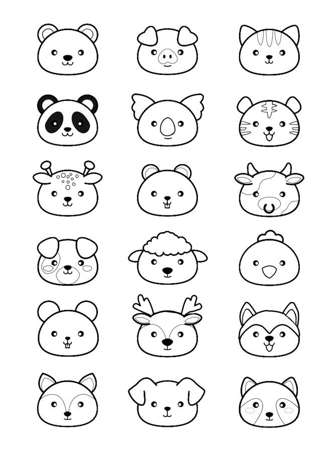 Dibujos De Kawaii Para Colorear