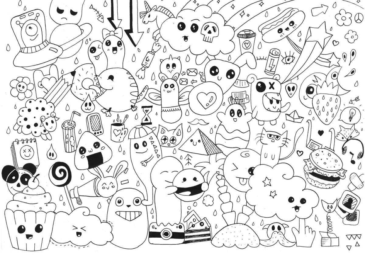 Imagenes Animadas Para Colorear: Dibujos De Kawaii Para Colorear