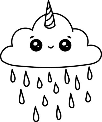 kawaii para colorear 15 nube unicornio
