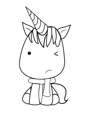 kawaii para colorear 18 unicornio