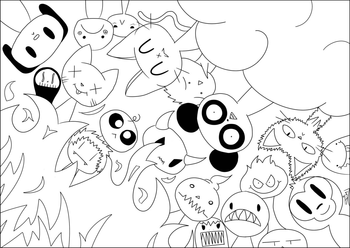 kawaii para colorear 2 - animalitos
