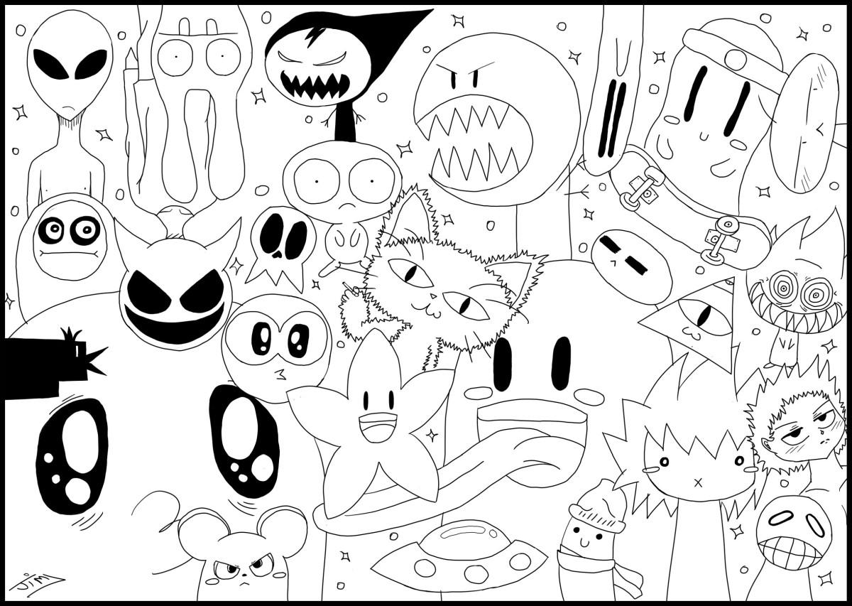 kawaii para colorear 7 - muñecos