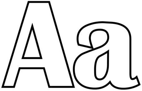 letras para colorear a 1